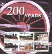 Dominica 2004 Steam Engines/ Diesel/ Electric/ Locomotives/ Railways/ Trains/ Transport 6v m/s (n42784)