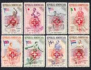 Dominican Republic 1957  Red Cross/ Refugees/ Olympics/ Sports/ Surcharge  8v set (n32808)
