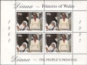 Easdale (GB, Local) 1997  Diana, Princess of Wales/ Mother Theresa/ People  4v m/s  (s2203)