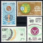 Egypt 1981 ITU-UIT/ Communications/ FAO/ Food/ UN Day/ Welfare/ Health 4v set (n29334)
