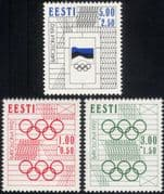 Estonia 1992 Olympic Games/ Olympics/ Sports/ Flag/ Rings/ Animation 3v set (ee1072)