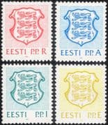 Estonia 1992 State Arms/ Lions/ Coats-of-Arms/ Heraldry/ Animals 4v set (ee1071)