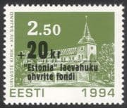 Estonia 1994 Church/ Ferry Disaster Surcharge/ Buildings/ Welfare Fund 1v (n31071)