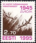 Estonia 1995 Europa/ Peace/ Freedom/ Broken Barbed Wire/ Animation 1v (ee1110)