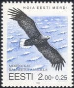 Estonia 1995 Sea Eagle/ Raptor/ Birds/ Nature/ Wildlife/ Conservation 1v (n19815)