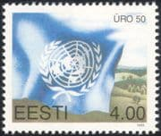 Estonia 1995 UN/ UNO/ United Nations 50th Anniversary/ Peace/ Welfare/ Flags 1v (ee1104)