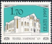 Estonia 1995 Vanemuine Theatre/ Buildings/ Art Nouveau Architecture/ Heritage/ History/ Acting 1v (ee1106)