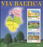 "Estonia 1995 ""Via Baltica Motorway Project""/ Hotel/ Castle/ Church/ Buildings/ Architecture/ Transport/ Tourism 3v m/s ee1108"