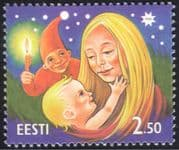 Estonia 1996 Christmas/ Greetings/ Mother/ Child/ Elf/ Candle/ Flame/ Animation 1v (ee1019)