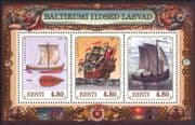 Estonia 1997 Baltic Sailing Ships/ Nautical/ Boats/ Transport/ History 3v m/s (ee1171)