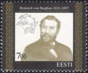Estonia 1997 Heinrich von Stephan/ UPU/ Universal Postal Union/ People/ Post/ Mail 1v (ee117)