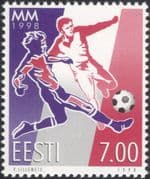 Estonia 1998 Football/ World Cup Championships/ WC/ Sports/ Soccer/ Games 1v (ee1189)