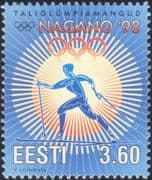Estonia 1998 Winter Olympic Games/ Sports/ Olympics/ Skiing/ Cross-country Skier/ Animation 1v (ee1188)