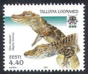 Estonia 2001 Chinese Alligator  /  Zoo  /  Animals 1v (n20530)