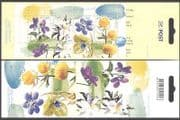 Estonia 2004 Violet  /  Anemone  /  Flowers  /  Plants  /  Nature 4v m  /  s bklt (n11744)