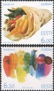 Estonia 2005 Europa/ Gastronomy/ Vegetables/ Fish/ Fruit/ Plants 2v set (ee1244)