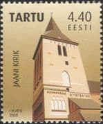 Estonia 2005 Tartu City/ Church/ Churches/ Buildings/ Architecture/ Heritage 1v (ee1234)