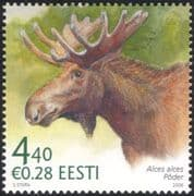 Estonia 2006 Elk/ Animals/ Wildlife/ Nature/ Conservation/ Deer 1v (ee1042)