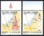 Estonia 2006 Tallin LIGHTHOUSES  /  Maritime 2v set n15999