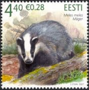 Estonia 2007 Badger/ Animals/ Wildlife/ Nature/ Conservation 1v (ee1043)