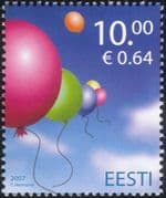 Estonia 2007 Balloons/ Toys/ Children's Day/ Animation 1v (n26667)