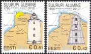 Estonia 2010 Lighthouse/ Maritime Safety/ Buildings/ Architecture/ Maps 2v set (ee1062)
