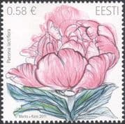 Estonia 2011 Chinese Peony/ Flowers/ Plants/ Nature/ Horticulture 1v (ee1208)