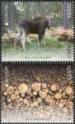 Estonia 2011 Europa/ Forests/ Elk/ Animals/ Wildlife/ Nature/ Conservation/ Environment/ Trees/ Plants 2v set (ee1068)
