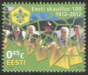 Estonia 2012 Scouts/ Estonian Scouting 100yrs/ Youth/ Leisure/ People 1v (ee1050)