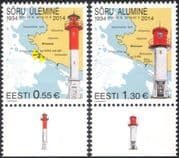 Estonia 2014 Lighthouses/ Maritime Safety/ Buildings/ Architecture/ Maps 2v Set (ee1065)