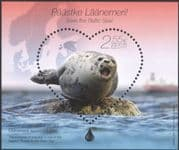 Estonia 2015 Grey Seal/ Nature/ Animals/ Marine/ Wildlife/ Conservation/ Environment/ Hearts 1v m/s (ee1055)
