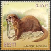 Estonia 2015 Otter/ Animals/ Wildlife/ Nature/ Conservation 1v (ee1049)