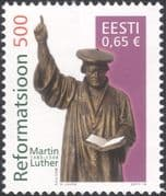 Estonia 2017 Martin Luther/ Reformation/ Bible/ Statue/ Religion/ People/ Books 1v (n45988)