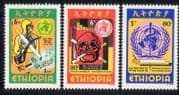 Ethiopia 1980 Health  /  Medical  /  Anti-Smoking  /  Skull  /  Welfare 3v set (n28424)