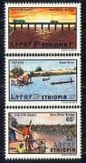Ethiopia 1981 Baro River Bridge  /  Transport  /  Bus  /  Truck  /  Construction 3v set  n29013