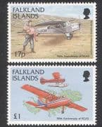 Falklands 1998 FIGAS  /  Planes  /  Aircraft  /  Aviation  /  Transport  /  Seaplane 2v set (n39775)