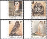 Falklands 2004 Breeding Owls/ Barn Owl/ Birds/ Raptors/ Nature/ Wildlife/ Conservation 4v set (n13167)