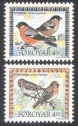 Faroe Is.  /  Faroes 1997 Birds  /  Nature  /  Wildlife  /  Bullfinch  / Redpoll/ Conservation 2v set (b281)