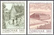 Faroe Islands (Faroes) 1978 Buildings/ Architecture/ Library/ Libraries/ Books 2v set (n32540)