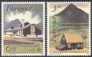 Faroe Islands/ Faroes 1990 Europa/ Post Office Buildings/ Architecture/ Views 2v set (n21104)