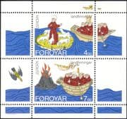 Faroe Islands/Faroes 1994 Europa/ Saint Brendan/ Boat/ Volcano/ Bird/ Sheep 2v m/s (n18901)