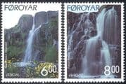 Faroe Islands/Faroes 1999 Europa/ Waterfalls/ Tourism/ Water/ Flowers/ Falls/ Nature 2v set (n23880)
