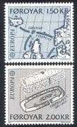 Faroes 1982 Vikings  /  Europa  /  Map  /  Building 2v set (n23882)
