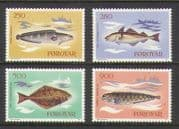 Faroes 1983 Fish  /  Boats  /  Fishing 4v set (n20584)