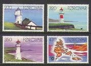Faroes 1985 Lighthouses/ Maritime/ Safety/ Buildings/ Architecture/ Maps 4v (n20247)