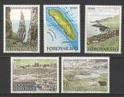 Faroes 1987 Boats  /  Sheep  /  Map  /  Views 5v set (n20245)