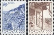 Faroes 1987 Europa/ Architecture/ Buildings/ Design/ Architects 2v set (n30263)