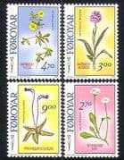 Faroes 1988 Flowers  /  Nature  /  Orchid  /  Plants 4v set b5246