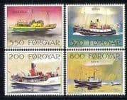 Faroes 1991 Mail Ships  /  Boats  /  Transport 4v set (n28156)