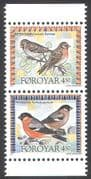 Faroes 1997 Birds/ Nature/ Wildlife/ Bullfinch/ Redpoll 2v set bklt pr (b281a)